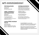 Now Open: Art Commissions!