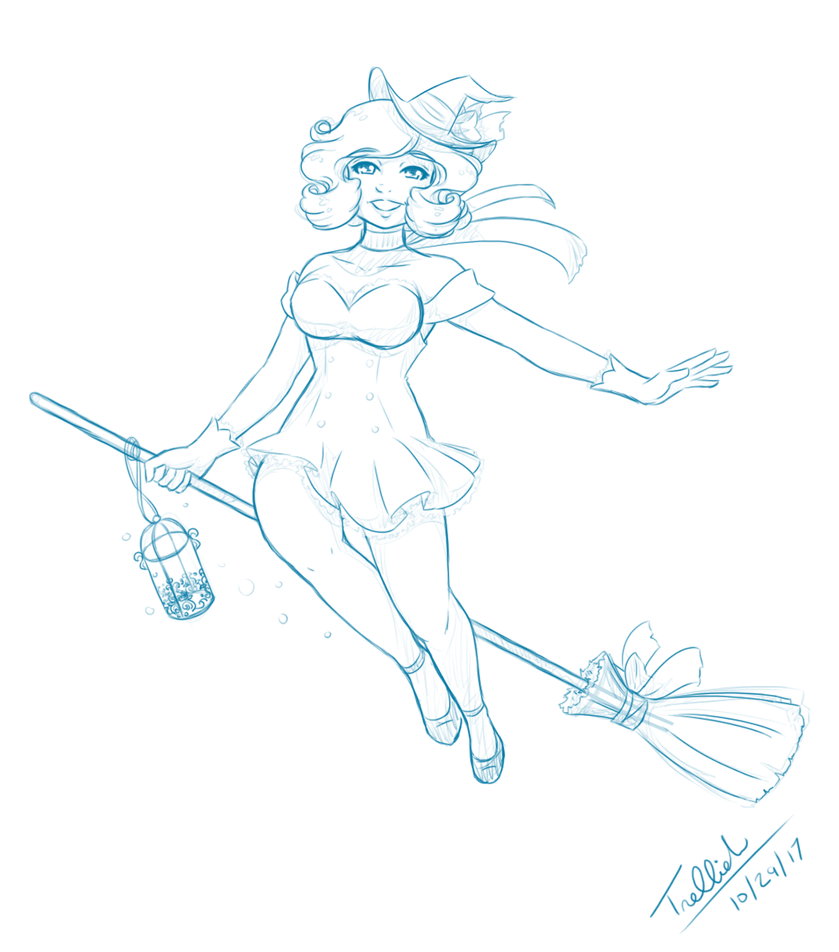 The Witch of Sweets (sketch) by trelliah