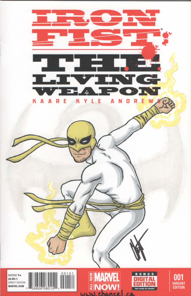 Iron Fist Sketch Cover by digitalkami