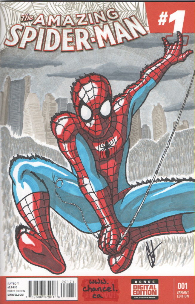 Spidey Swing Sketch Cover by digitalkami
