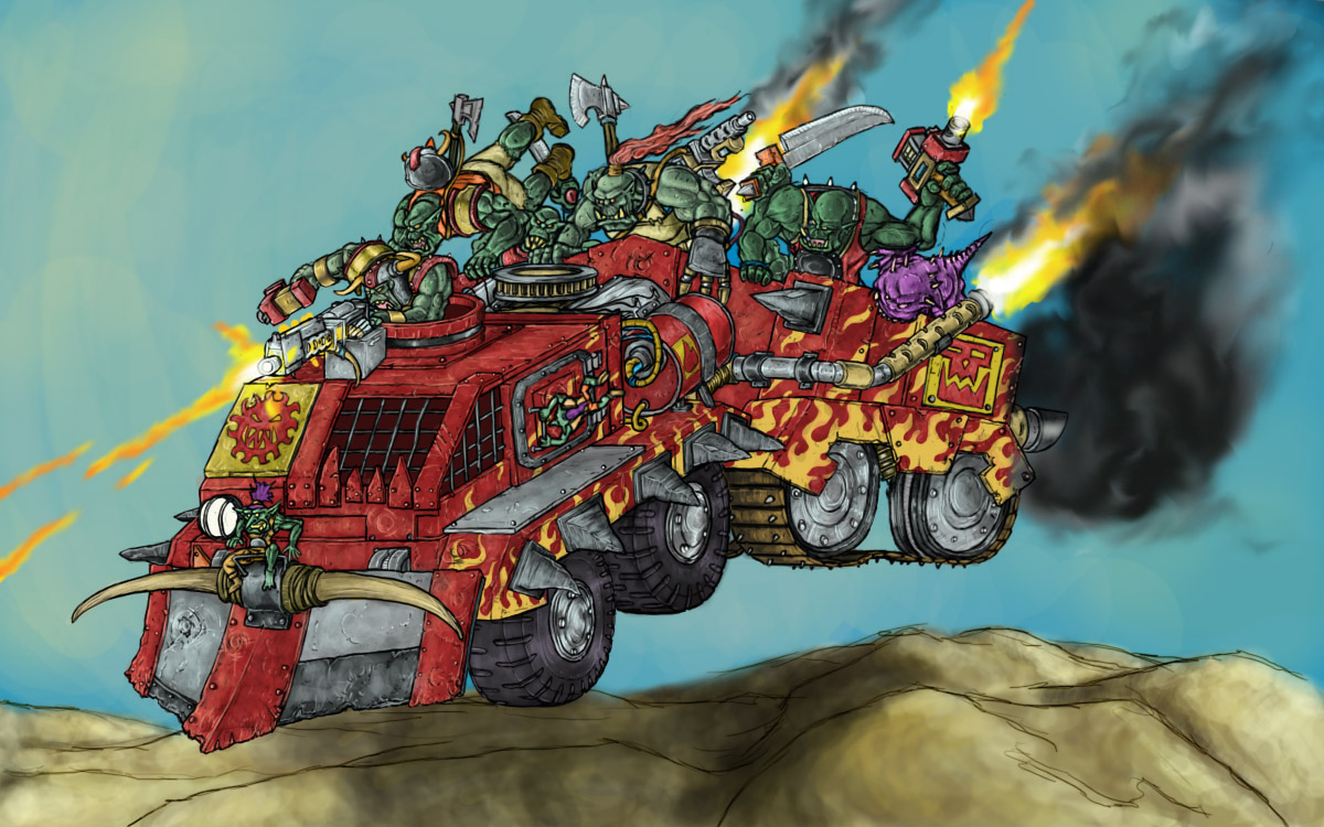 Orks - Trukk - Colour by Taytonclait