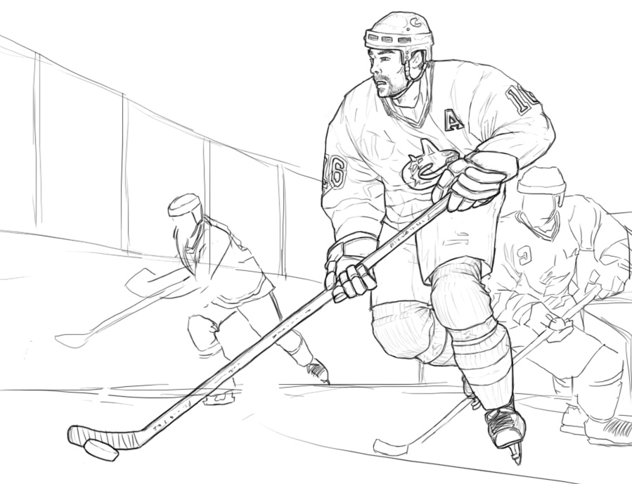 Vancouver canucks hockey wip by taytonclait on deviantart for Hockey player coloring page