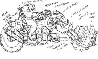 Ork Bike Sketch 3 by Taytonclait