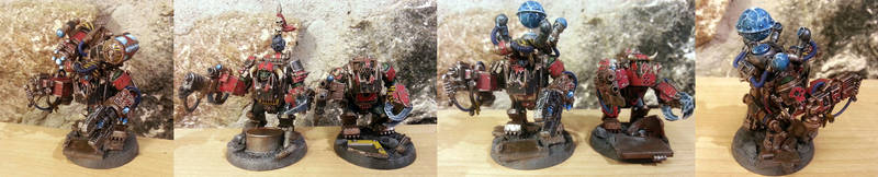 Ork Meganobs and Big Mek by Taytonclait