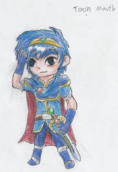 Toon Marth by kanineious