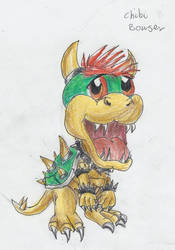 Chibi Bowser by kanineious