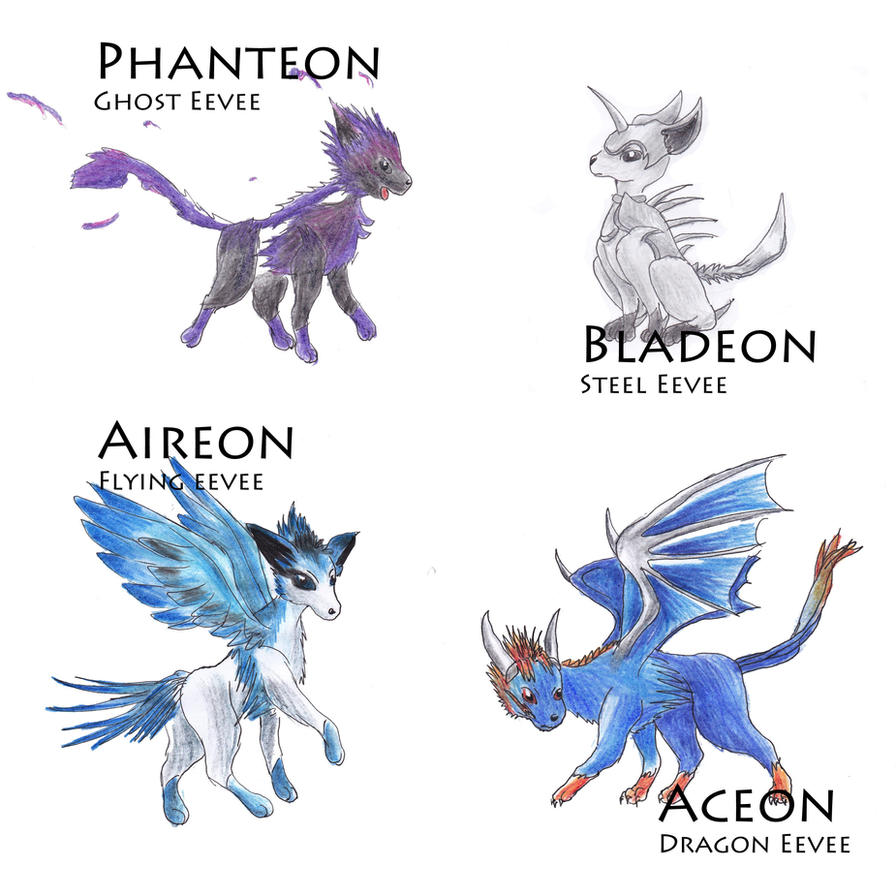 Made Up Eevees By Kanineious On Deviantart