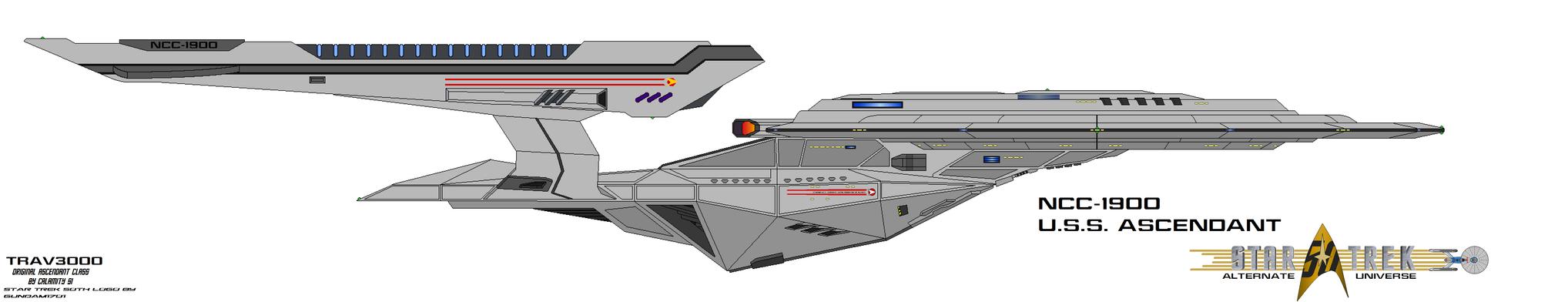 NCC-1900 USS Ascendant by trav3000