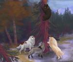 Bear Hunt in a tree