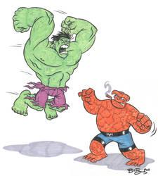Hulk vs the Thing by ATLbladerunner
