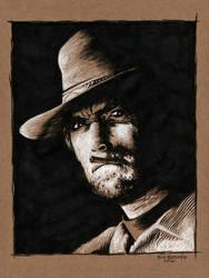 Eastwood on Brown Paper by ATLbladerunner