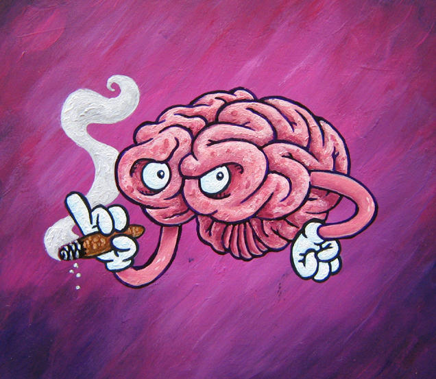 painting preview - the BRAIN by ATLbladerunner