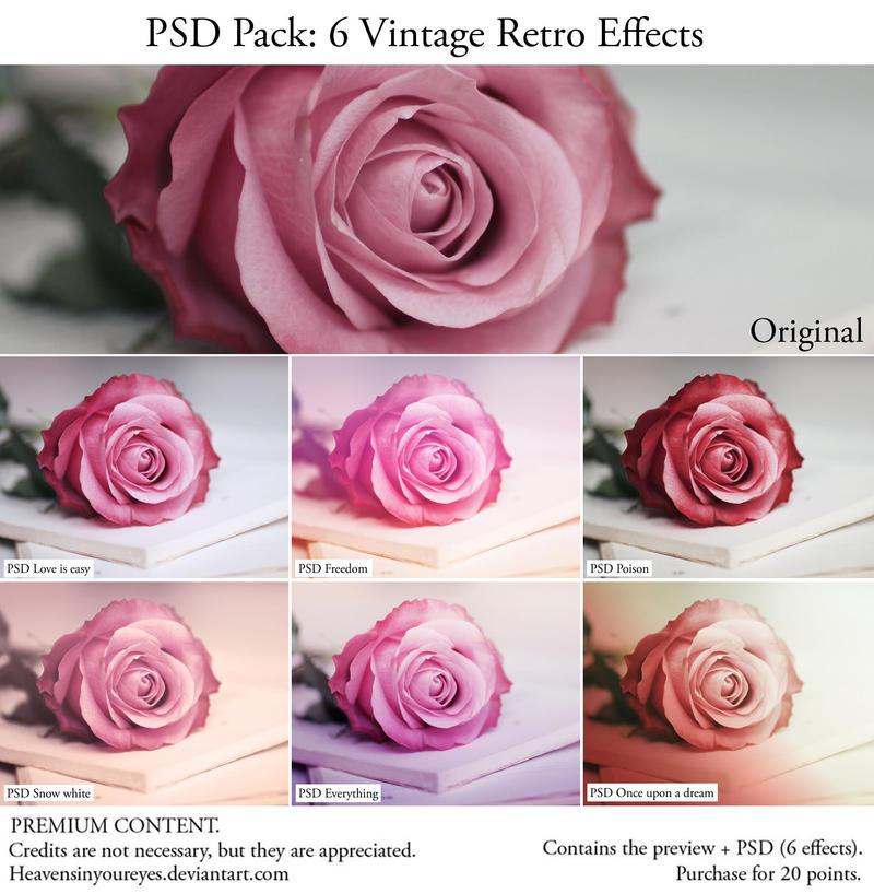 PSD PACK 6 Vintage Retro Effects by Heavensinyoureyes