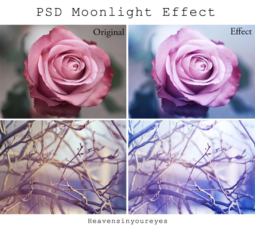 PSD Moonlight Effect by Heavensinyoureyes