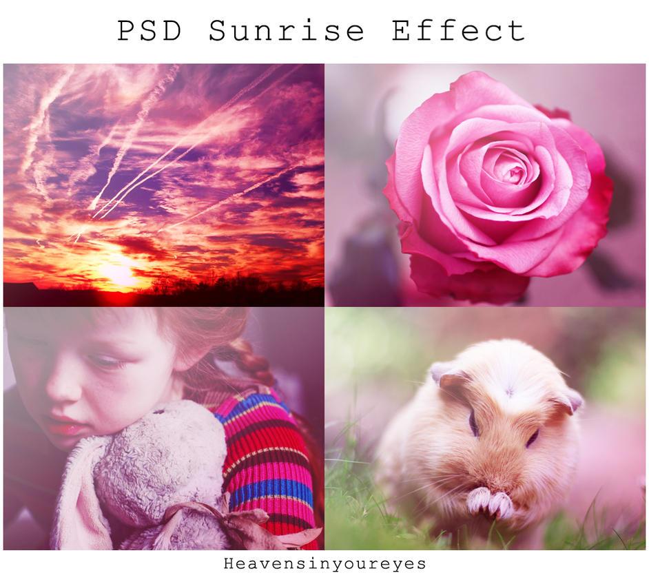 PSD Sunrise Effect by Heavensinyoureyes