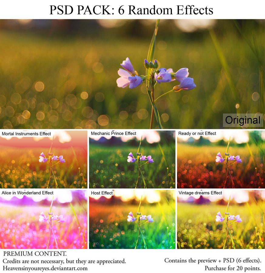 PSD PACK 6 Random Effects vol. 2 by Heavensinyoureyes