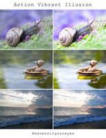 Vibrant Illusion - Photoshop Action. by Heavensinyoureyes