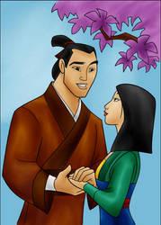 DC - Shang and Mulan (color) by vanillacoke-disney