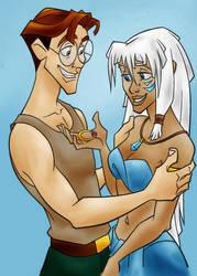 DC - Milo and Kida (color) by vanillacoke-disney