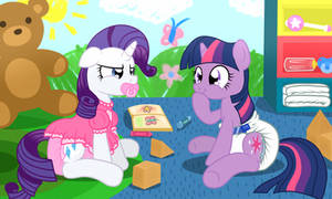 Twilight and Rarity go to the Spa