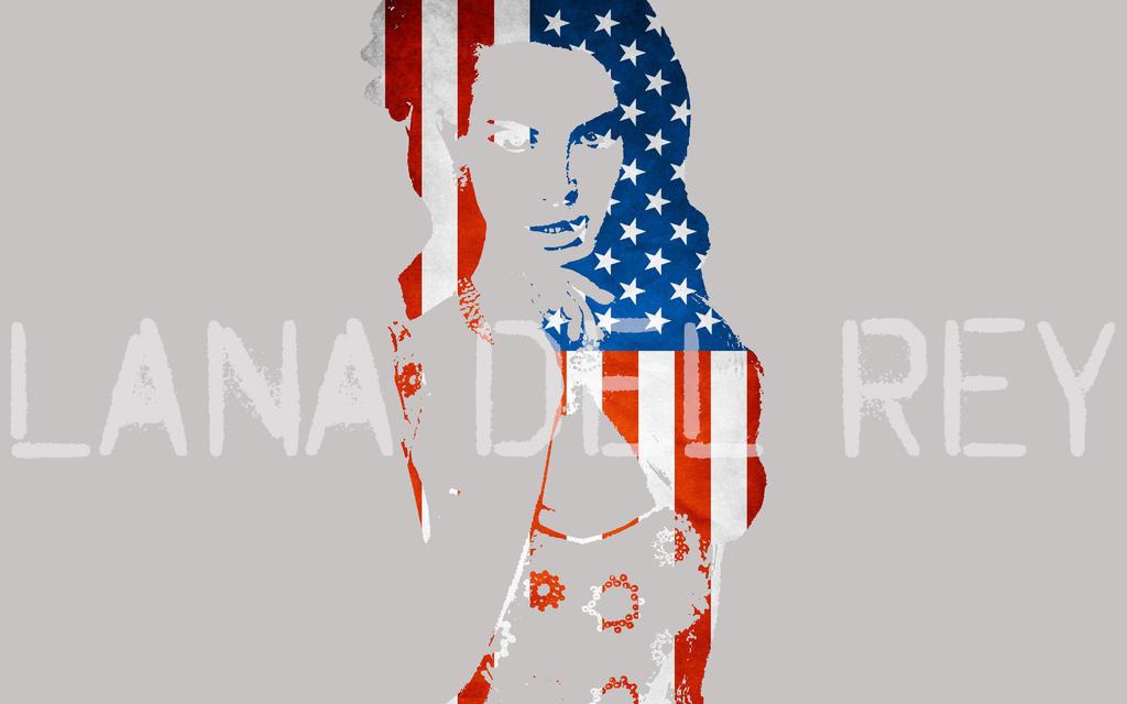 Lana Del Rey USA Wallapaper by PiroRM
