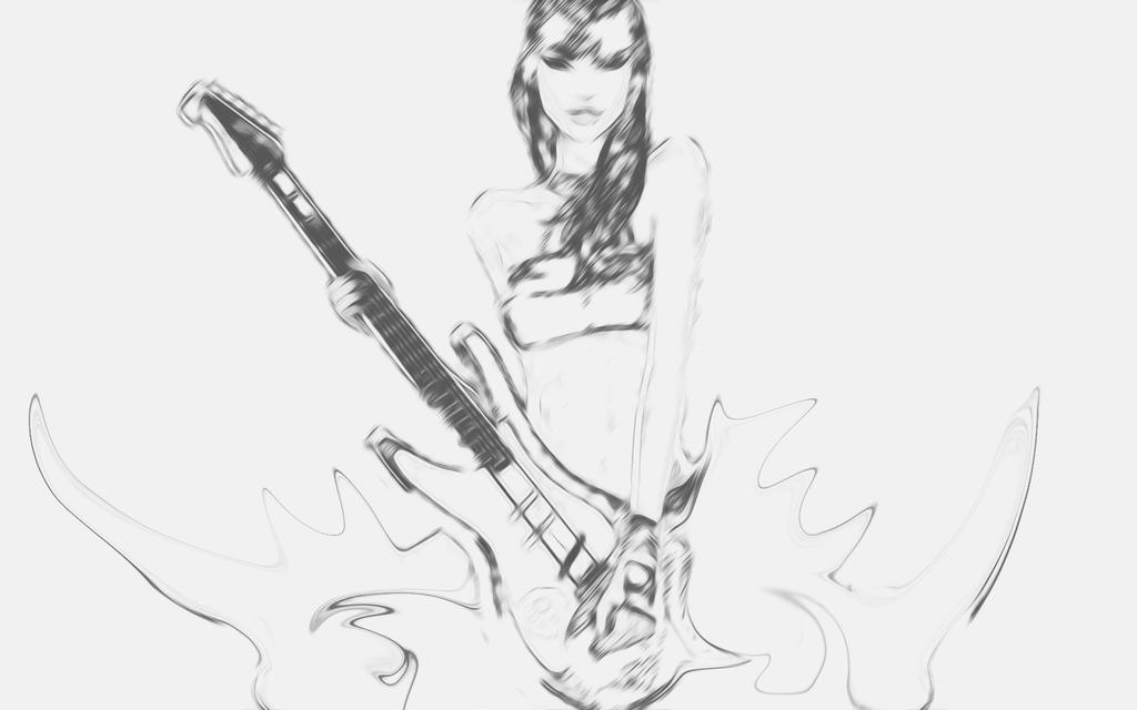 Girl With Guitar By PiroRM On DeviantArt