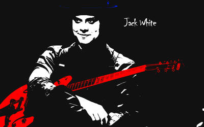 Jack White Red Guitar Wallpaper by PiroRM