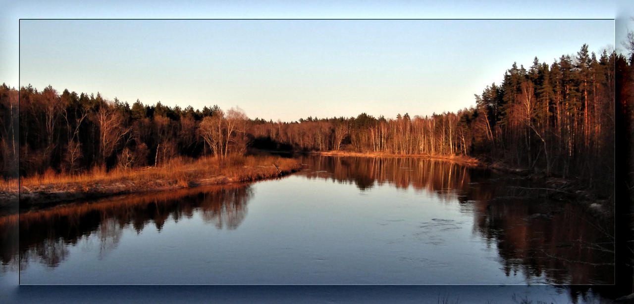 April sunset over Gauja river... by Yancis