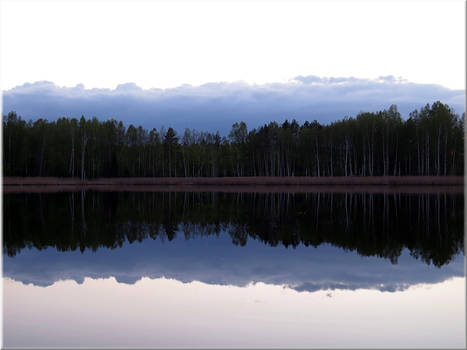 Evening over a lake...