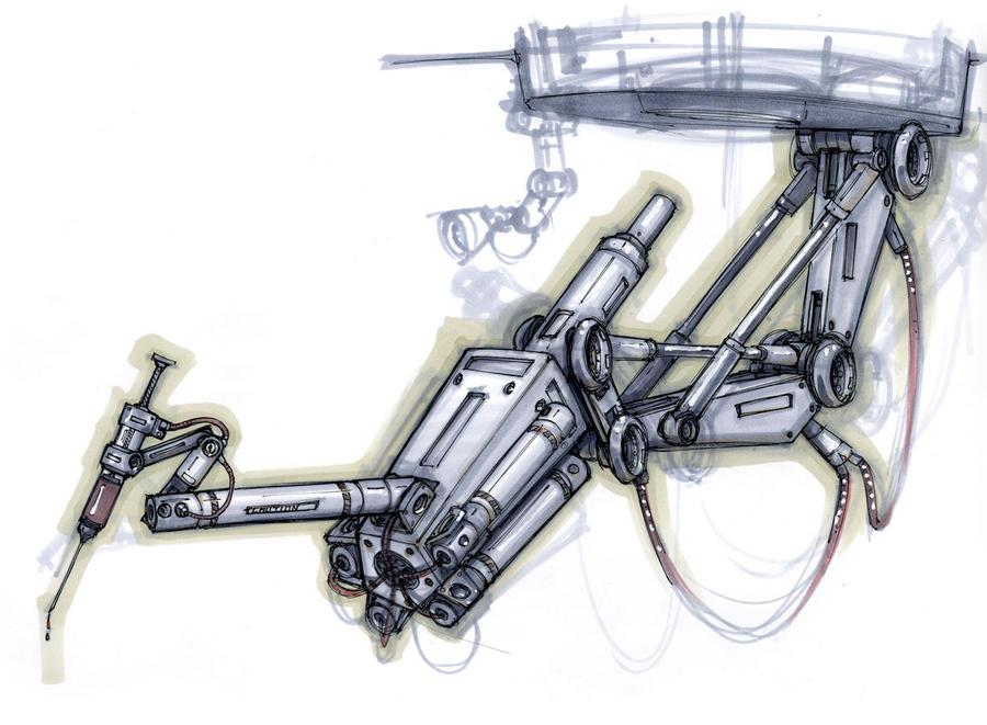 Hydraulic Arm Design : Robotic arm by dmboyledesign on deviantart