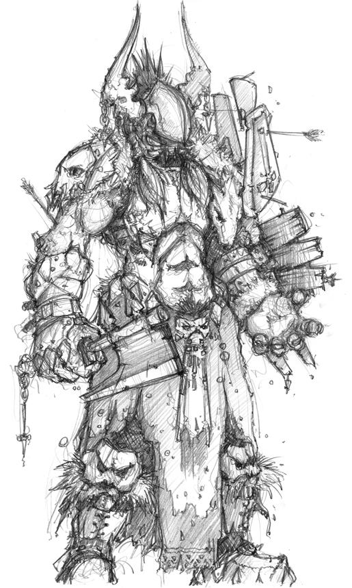 demon hunter pencil by dmboyledesign on deviantart