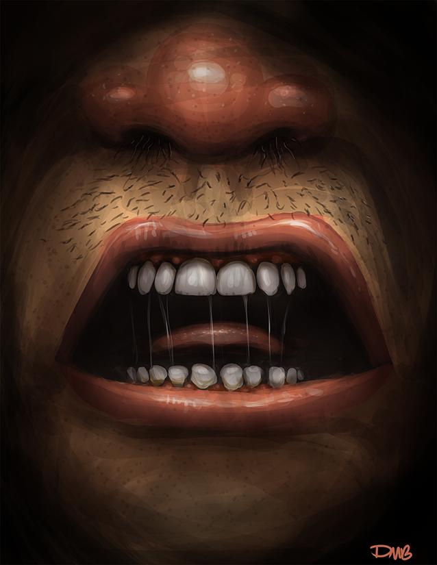 gross mouth by dmboyledesign on deviantart. Black Bedroom Furniture Sets. Home Design Ideas