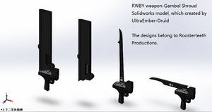 RWBY weapons-Gambol Shroud-The Solidworks models