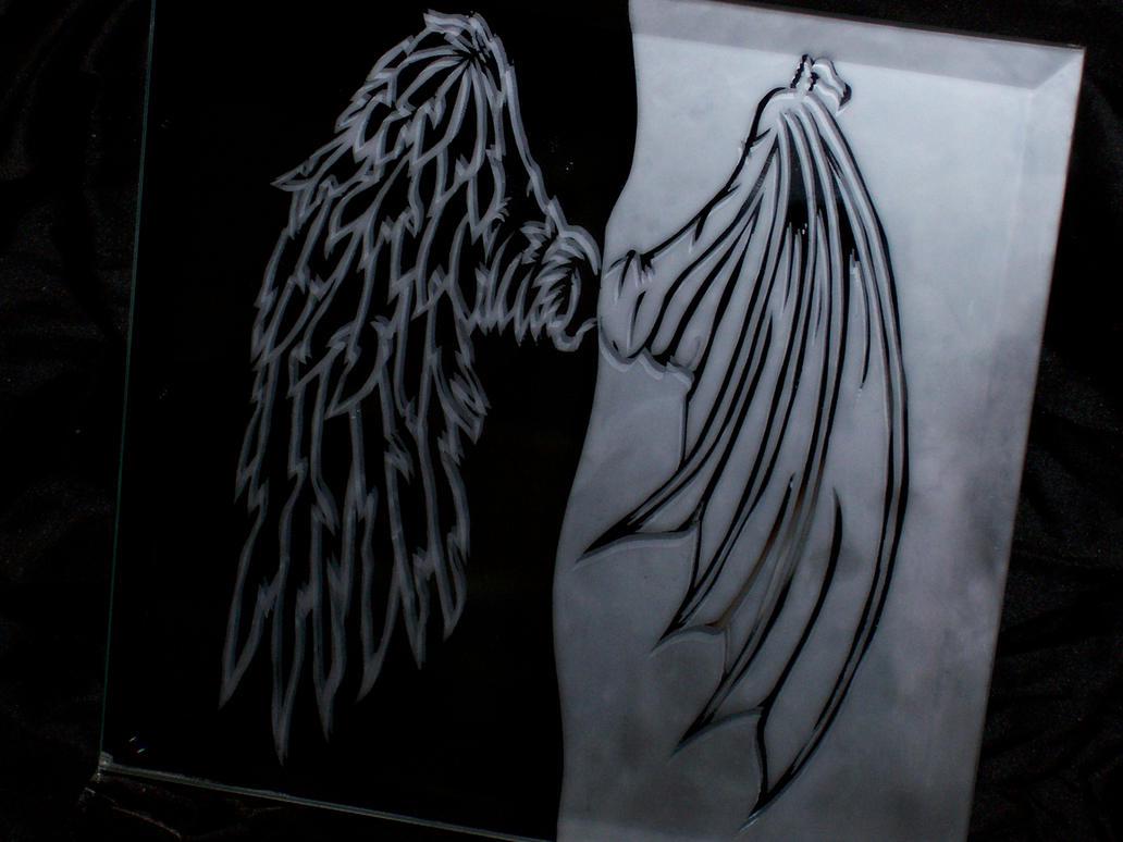 Angel Demon Wings Tattoo