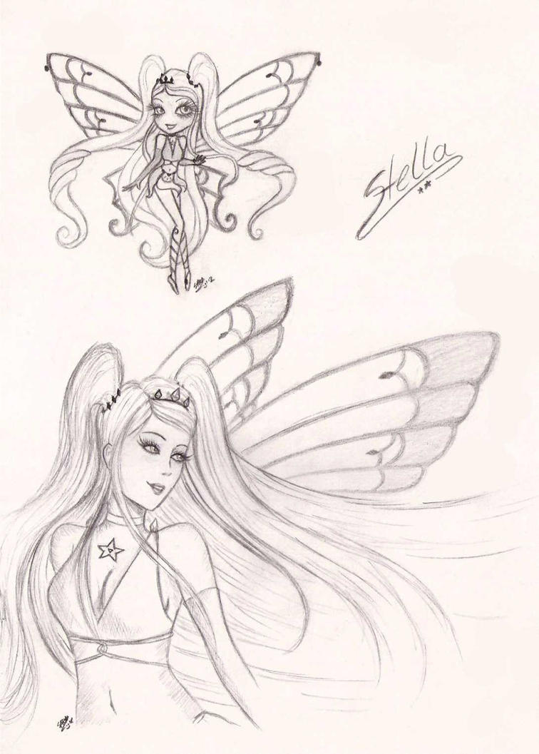 Winx club stella enchantix by sweetillita on deviantart for Stalla ovini dwg