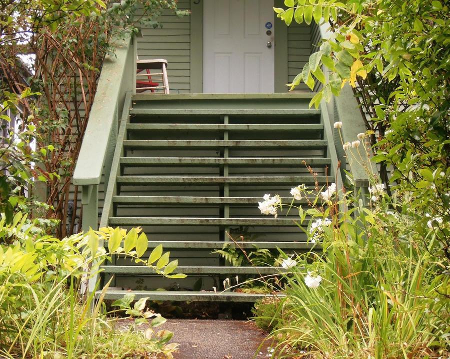 Green Stairs by NinaFoFina