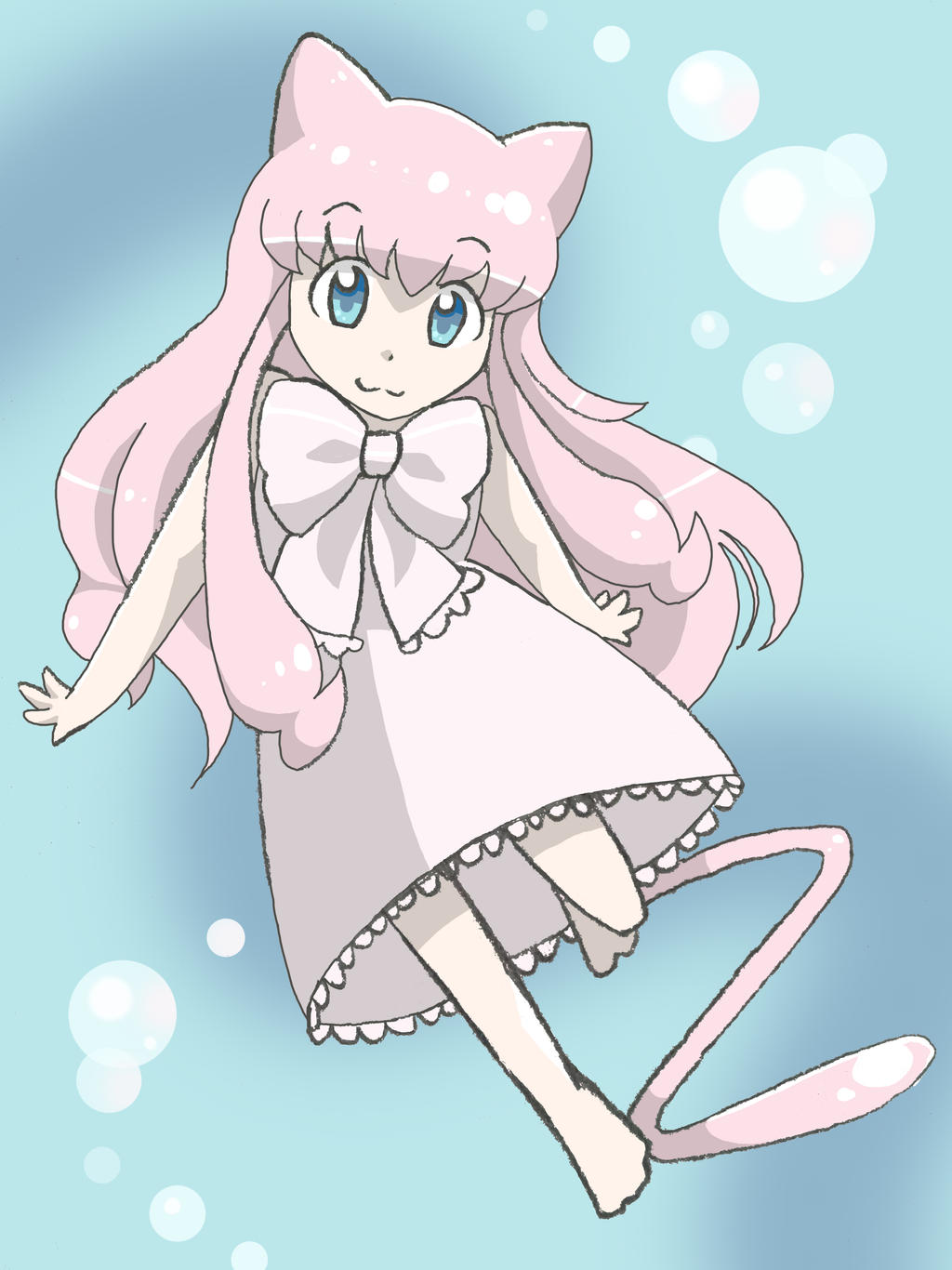 Mew Gijinka~! by Noodlearmcat