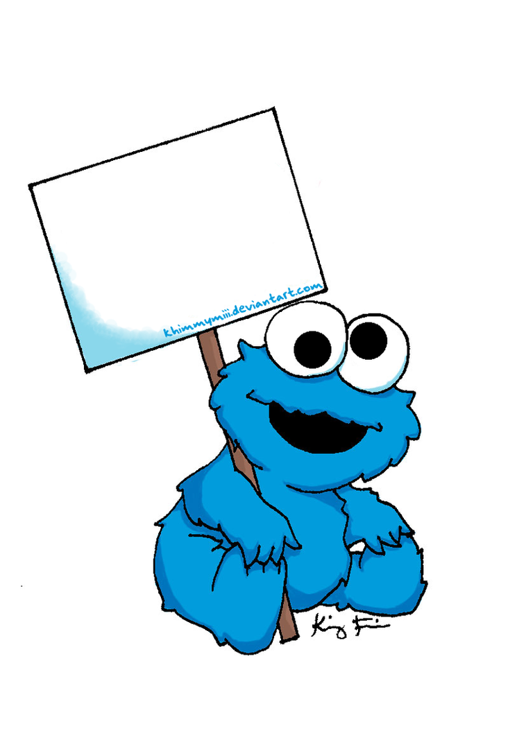Baby Cookie Monster Sign by khimmymiii