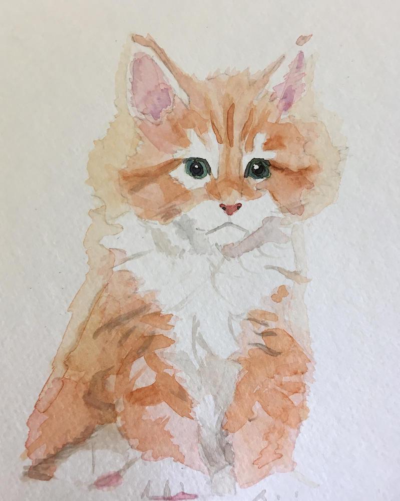 Painting Of Kitten by shortpencilstudios