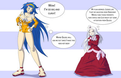 Fairy Tail_Levy and Mirajane Age Swap