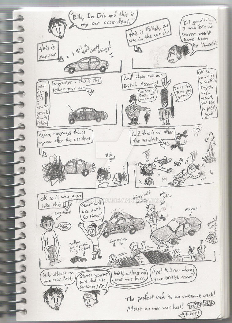 Car Accident Comic with Felish by toadking07 on DeviantArt