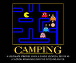 Camping, in Pacman