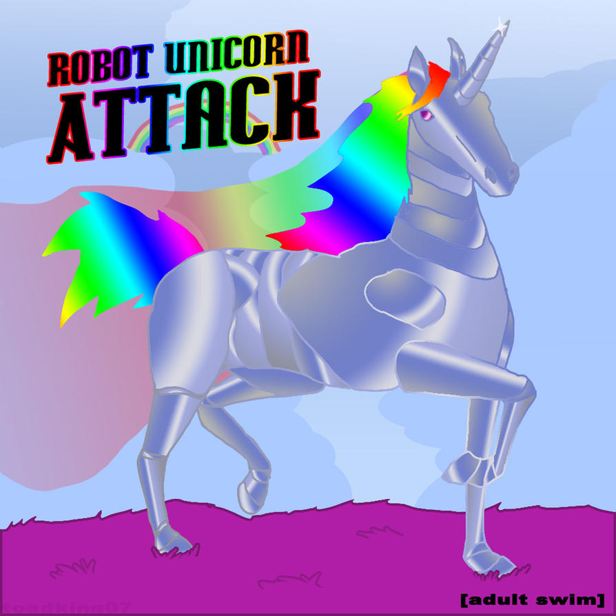 Robot Unicorn Attack Fanart by toadking07