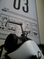 Portal gun meets portal poster by toadking07