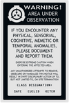 SCP Sticker Warning Label002