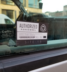 SCP Authorized Personnel Vehicle Sticker