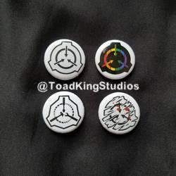 SCP Logo Button Pins