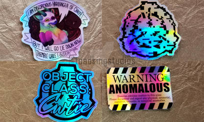 I love the colors my holographic stickers reflect