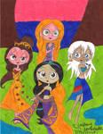Kida,Belle,Rapunzel,Jasmine