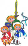Collab+ OoT Links 8D